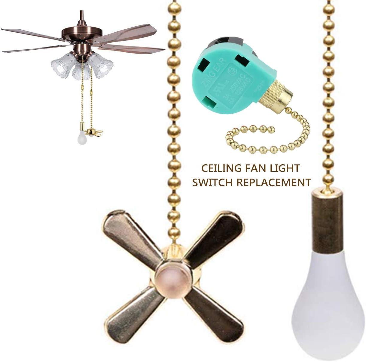 Ceiling Fan Pull Chain Ceiling Fan Switch Ze-268s6 4 Wire Fan Switch Fan Control Switch Zing Ear 4 Wire Fan Switch Brass - -