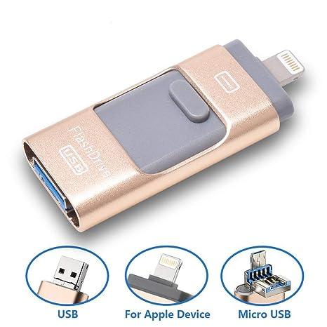 Discos flash USB para iPhone 32 GB IOS Lightning Photo & Music Vault, memoria externa de almacenamiento, Expansión usb para iPod/iPhone/iPad/Android y ...