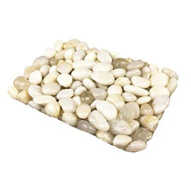 OYAMIHUI Stone Pebbles Soap Dish for Shower and Bathroom, Natural Stone Soap Holder to Keep The Soap Dry