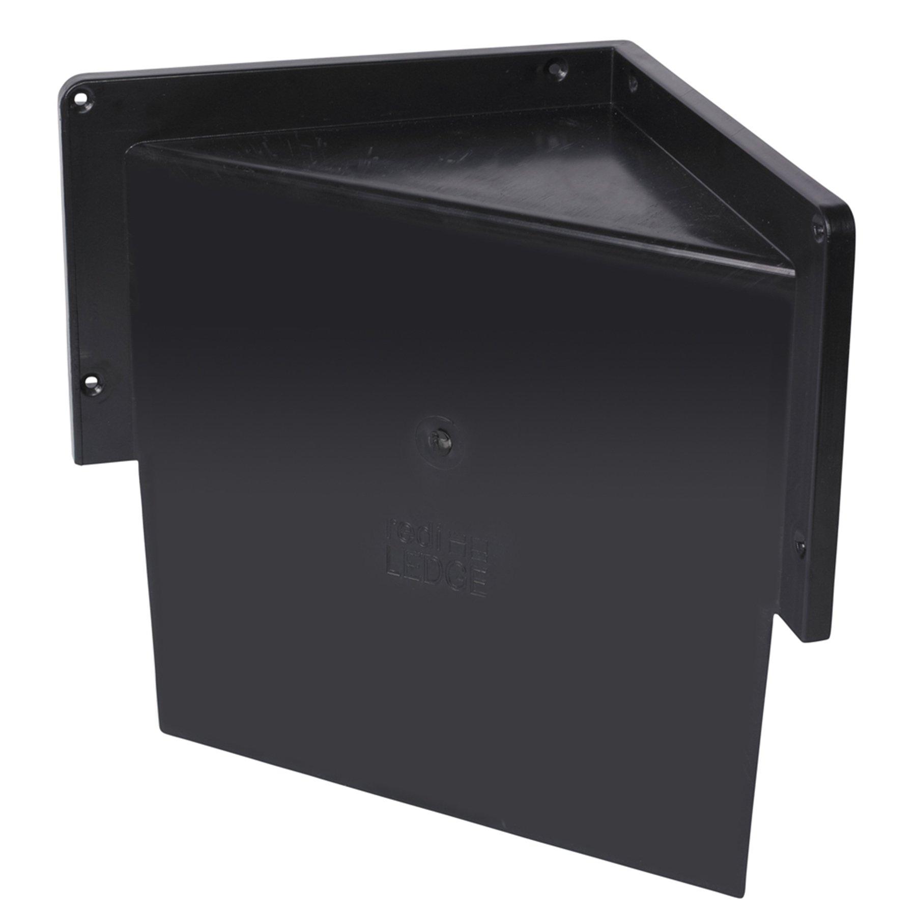 Tile Redi USA RLCorner Redi Ledge Shower Ledge, 15.56'' W x 8.06'' D x 12'' H, Black
