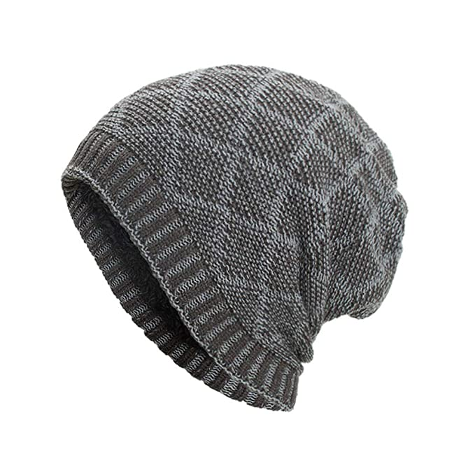 Mirray Herren Damen Beanie Skull Kappen Warm Baggy Weave Häkeln