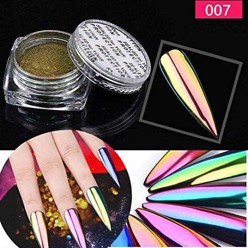 Oksale 1Box/5g Metal Chrome Nail Polish Powder Pigment Chang