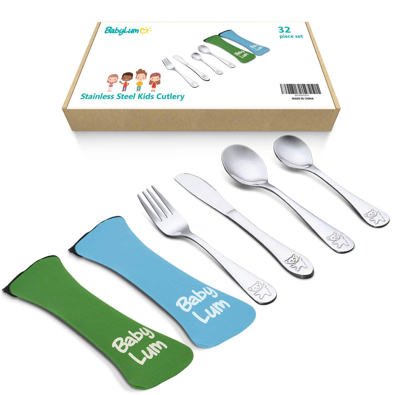 Amazon.com: Juego de 32 piezas de utensilios para niños ...