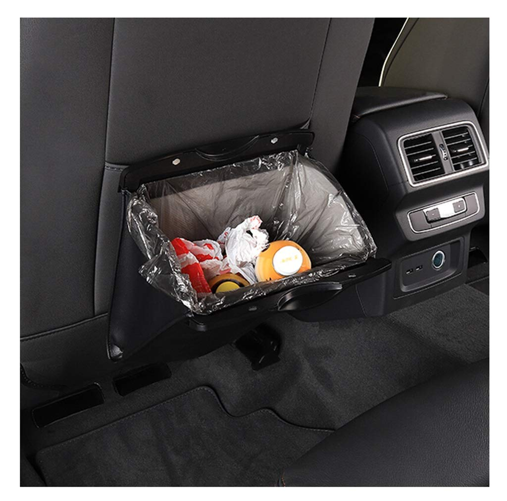 PANGU-ZC Car Garbage Bag Car Leather Storage Bag Hanging Folding Garbage Bin Seat Back Garbage Bag Special Car Interior Supplies - 2659