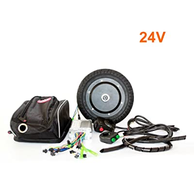 L-faster 36V 350W Electric Scooter Conversion Kit 8 Inch Brushless Huv Motor Kit for Kick Scooter DIY Electric Trikke Speed Can Be 30KM/H : Sports & Outdoors