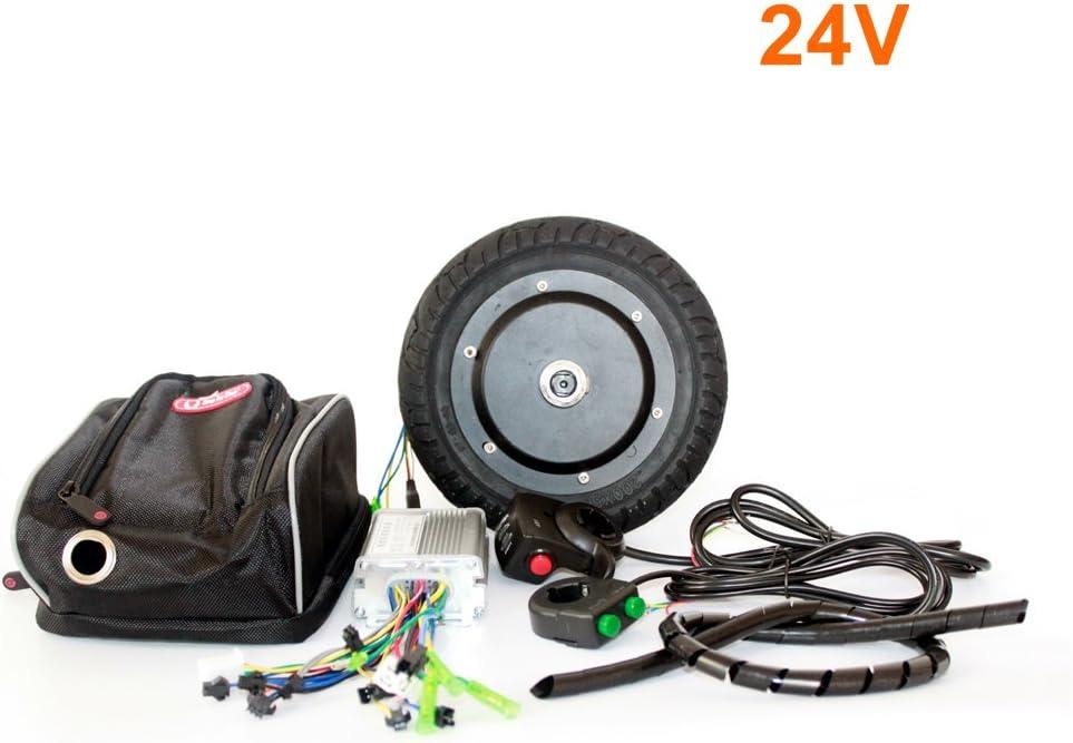 L-faster 36V 350W Kit de conversión de Scooter eléctrico 8 Pulgadas Kit de Motor Huv sin escobillas para Kick Scooter DIY Velocidad de Trikke eléctrico Puede ser 30KM / H