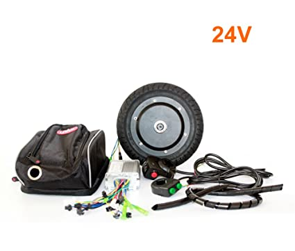 36V 350W Kit de conversión de Scooter eléctrico 8 pulgadas Kit de motor Huv sin escobillas