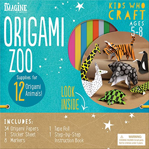 Bendon Imagine Kids Who Craft Origami Zoo Craft Kit (36557)