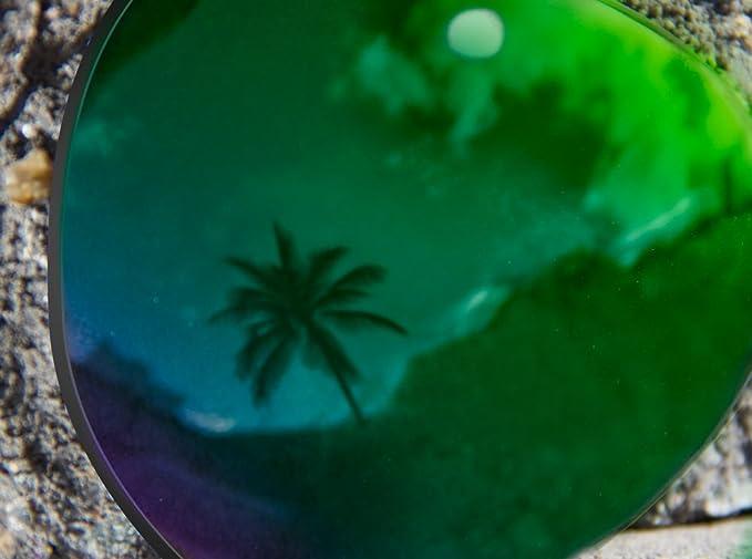 Ultimate Silver Mirror Black Pair-Regular SFx Replacement Sunglass Lenses fits Von Zipper Skitch 67mm across