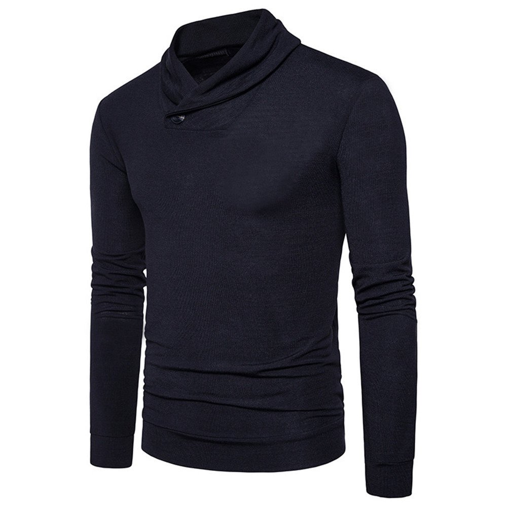 Gndfk männer rein Pullover Pullover Pullover Haufen Kragen,schwarz,l