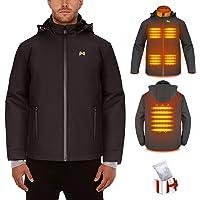 Chaqueta Térmico Electrico para Hombre y Mujer - Chaleco calefactable recargable por USB - Con cuello térmico, chaqueta…