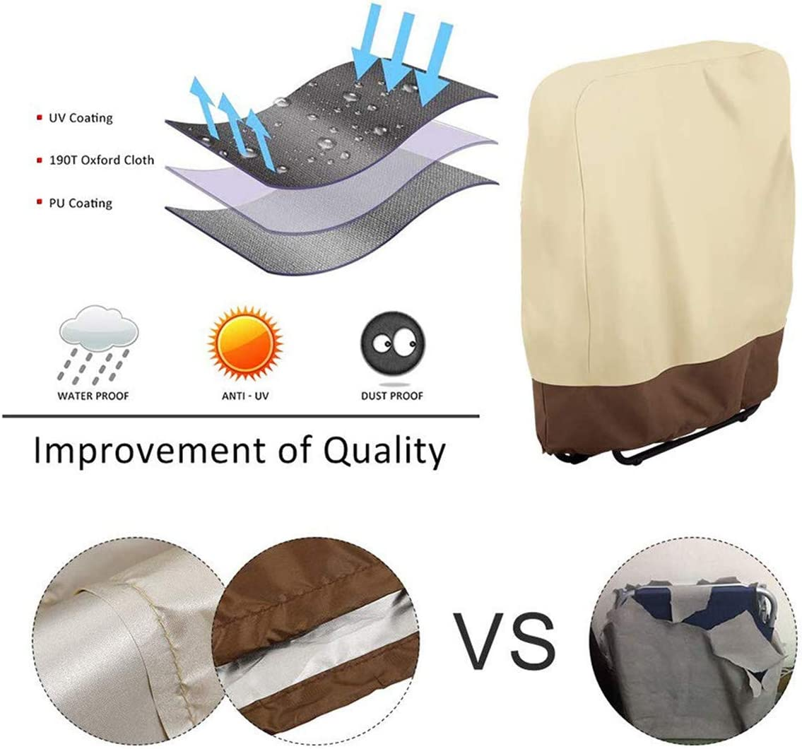 Multifunctional Zero Gravity Folding Chair Cover Waterproof Dustproof UV Resistant Folding Durable Folding Chair Cover
