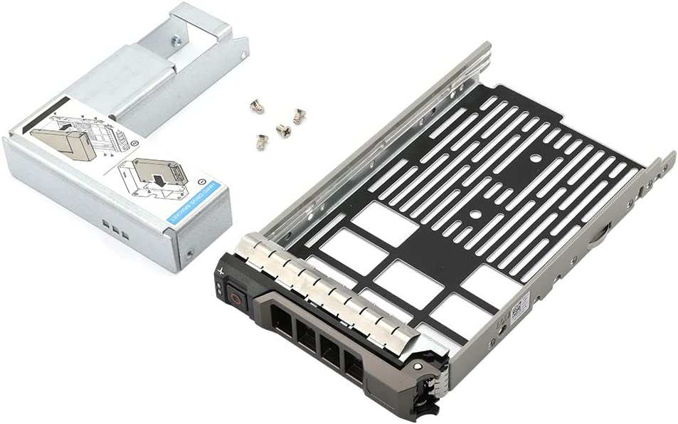 """3.5"""" SAS/SATA Hard Drive Tray Caddy with 2.5"""" HDD Adapter SSD SAS SATA Bracket for Dell Poweredge Series 11/12/13 Generation Models R310, T310, R330, T330, R410, T410, R415, R510 etc."""