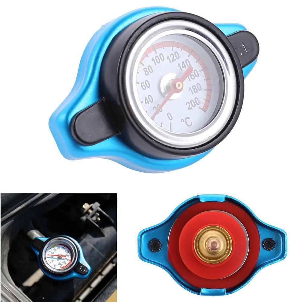 Temp Ahomi testa piccola automobile del tappo del radiatore acqua Meter termostatica Gauge 1,1 bar