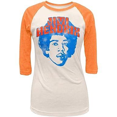 f9abe8dc45f Jimi Hendrix - Head Juniors Raglan at Amazon Women's Clothing store: