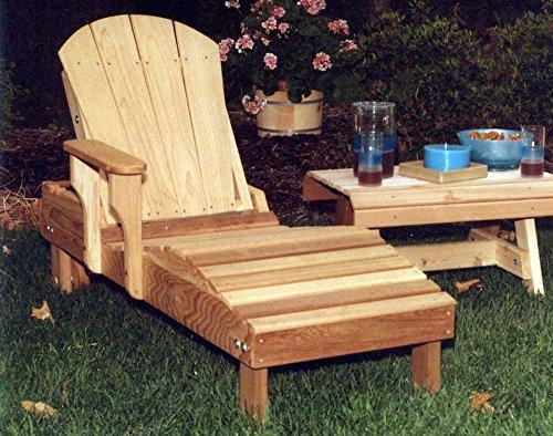 Red Cedar Chaise Lounge Chair - Creekvine Designs Cedar Adirondack Chaise Lounge