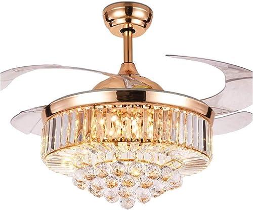 42 Inch Crystal Chandelier Ceiling Fan