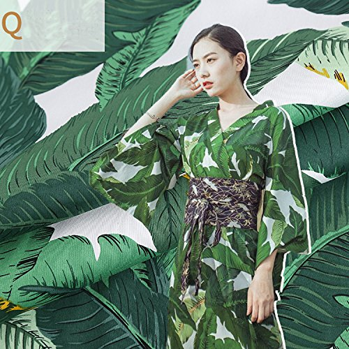 Green Banana Leaf Dye Stretch Satin Plush Cotton Fabric for Dress Tissus au Meter DIY Cheap Fabrics Tecido Patchwork Telas Tissu