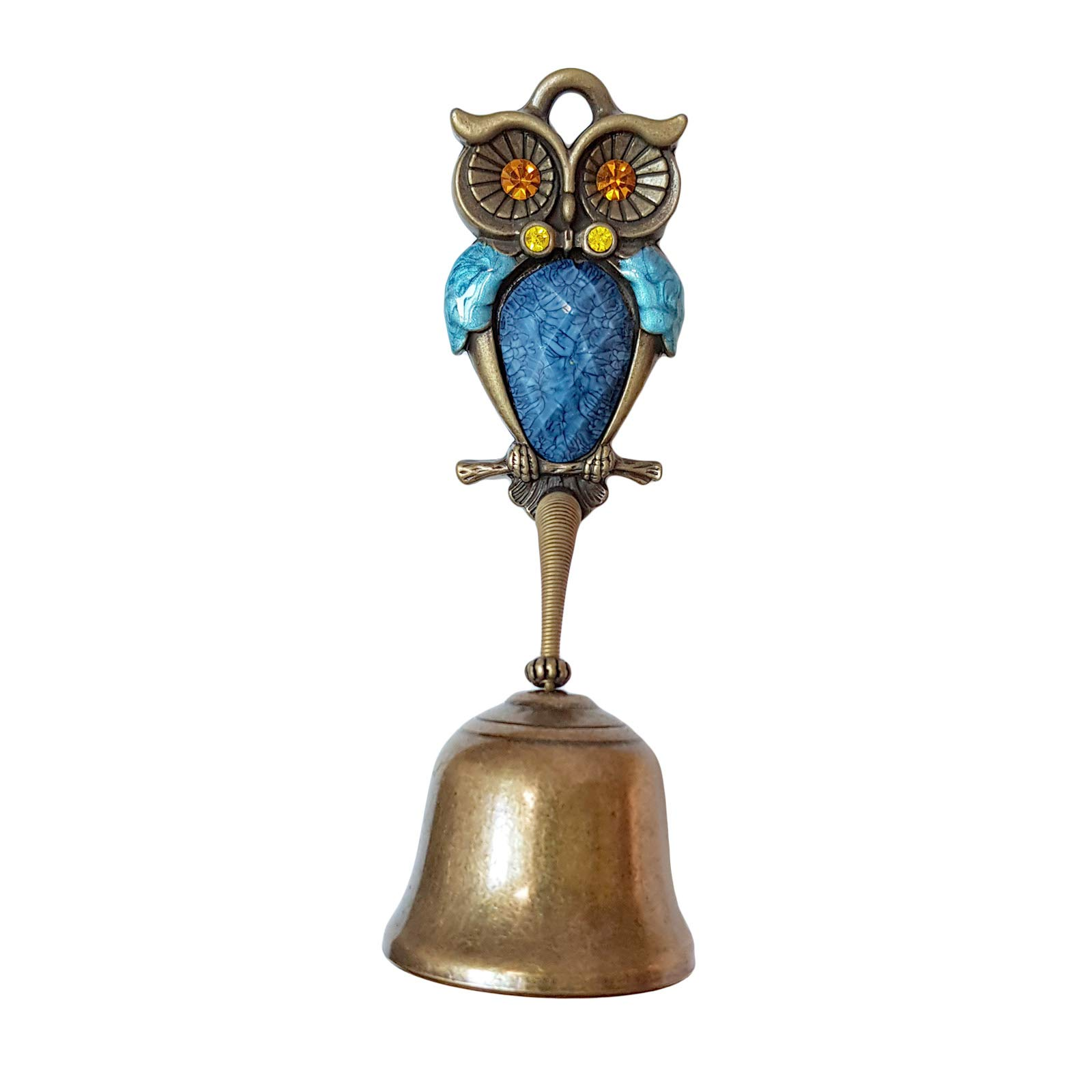 Owl Springy Shopkeepers Bell Entrance Alert Chime Compact & Lightweight Unique Design Home Decoration Doorbell B-Type (Blue)
