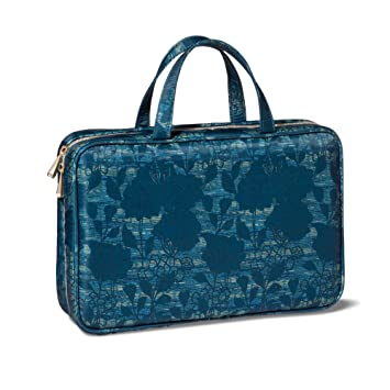 Amazon Com Sonia Kashuk Weekender Makeup Bag Blue Asian Floral