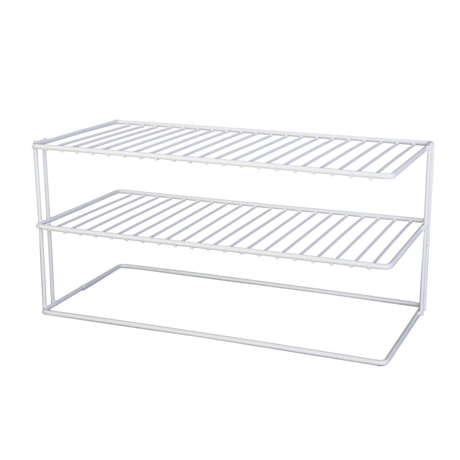 Grayline 40126, Large Two Shelf Organizer, White