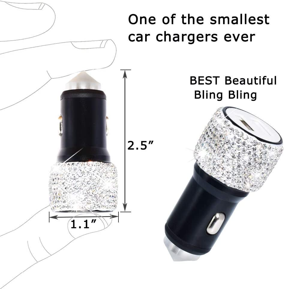 2pc seat belt cover Car Armrest Cover BlingBling Charming Attractive Colorful Rhinestone Crystal Center Console Cushion Pad