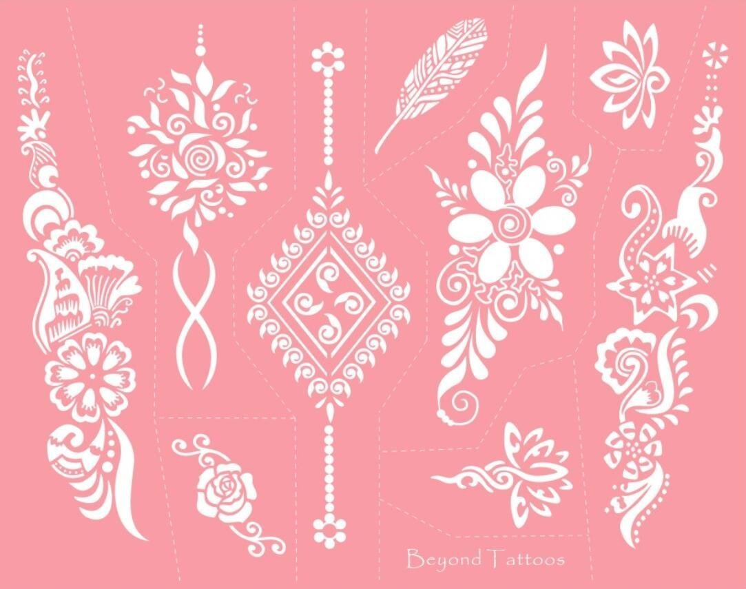 Reusable Micronet Mesh Stencil Tattoo Stencil Template 6 Large Sheet Set Pink by TIE (Image #3)