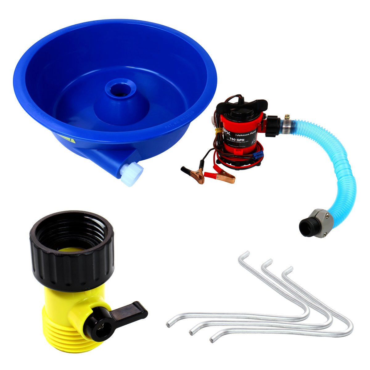 Blue Bowl Concentrator Kit w/Pump & Leg Levelers