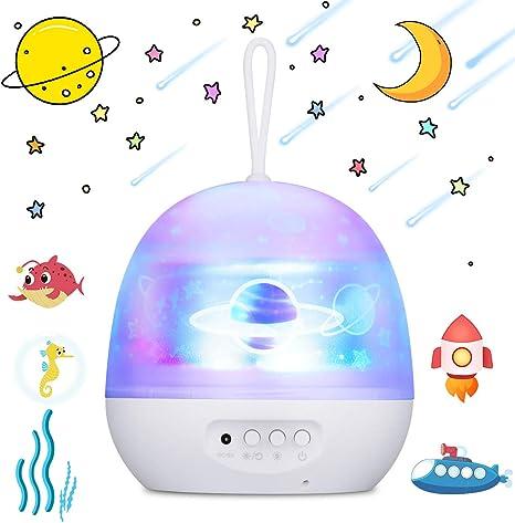 Luichild Proyector Estrellas Bebé, Lámpara Proyector Infantil Luz ...