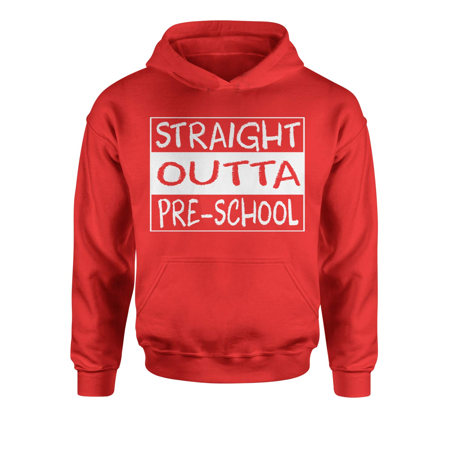 Expression Tees Straight Outta Pre-School Youth-Sized Hoodie