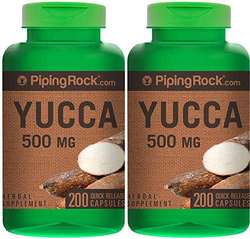 Yucca Root 500 mg 2 Bottles x 100 Capsules