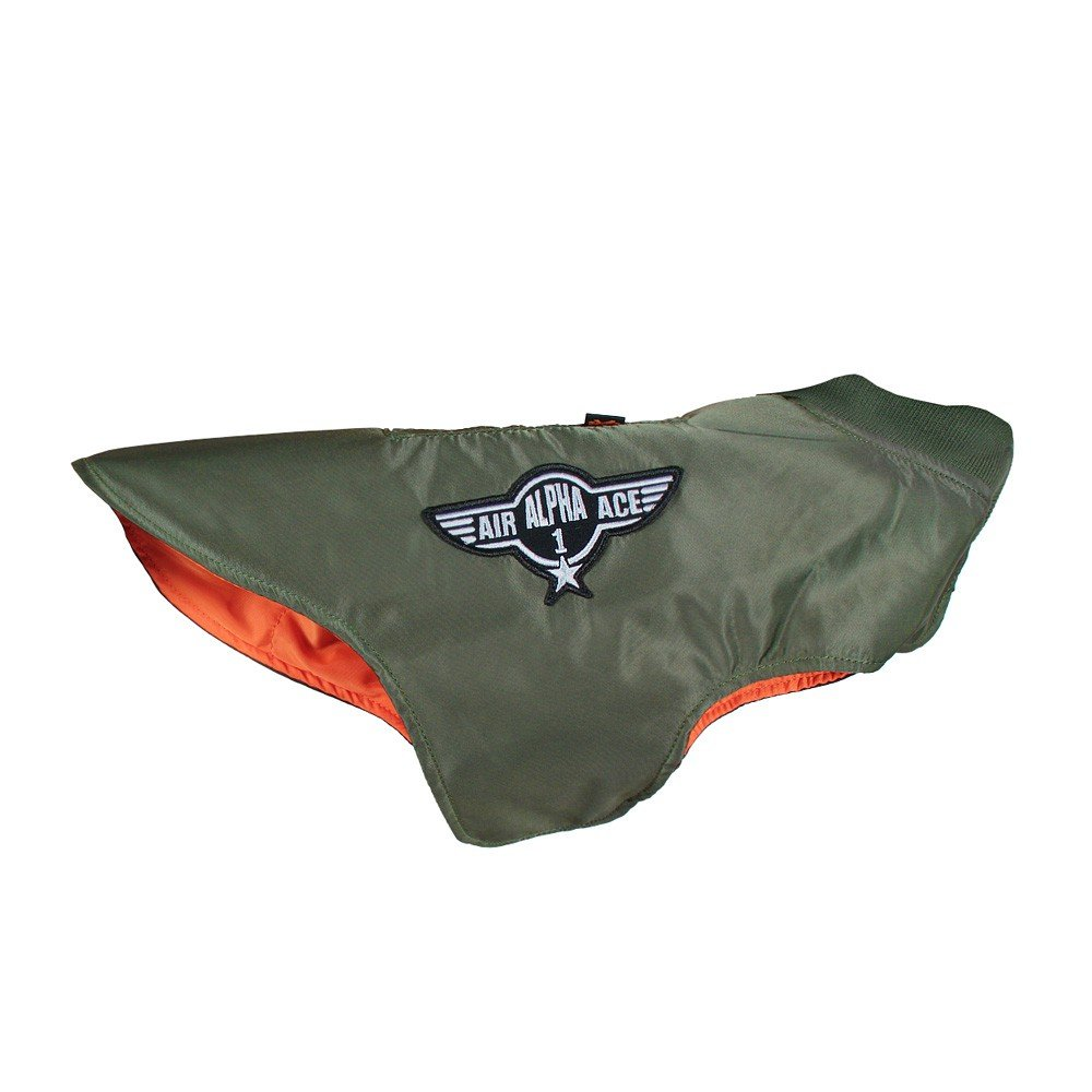 Alpha Industries Dog Nylon Flight Jacket oliva