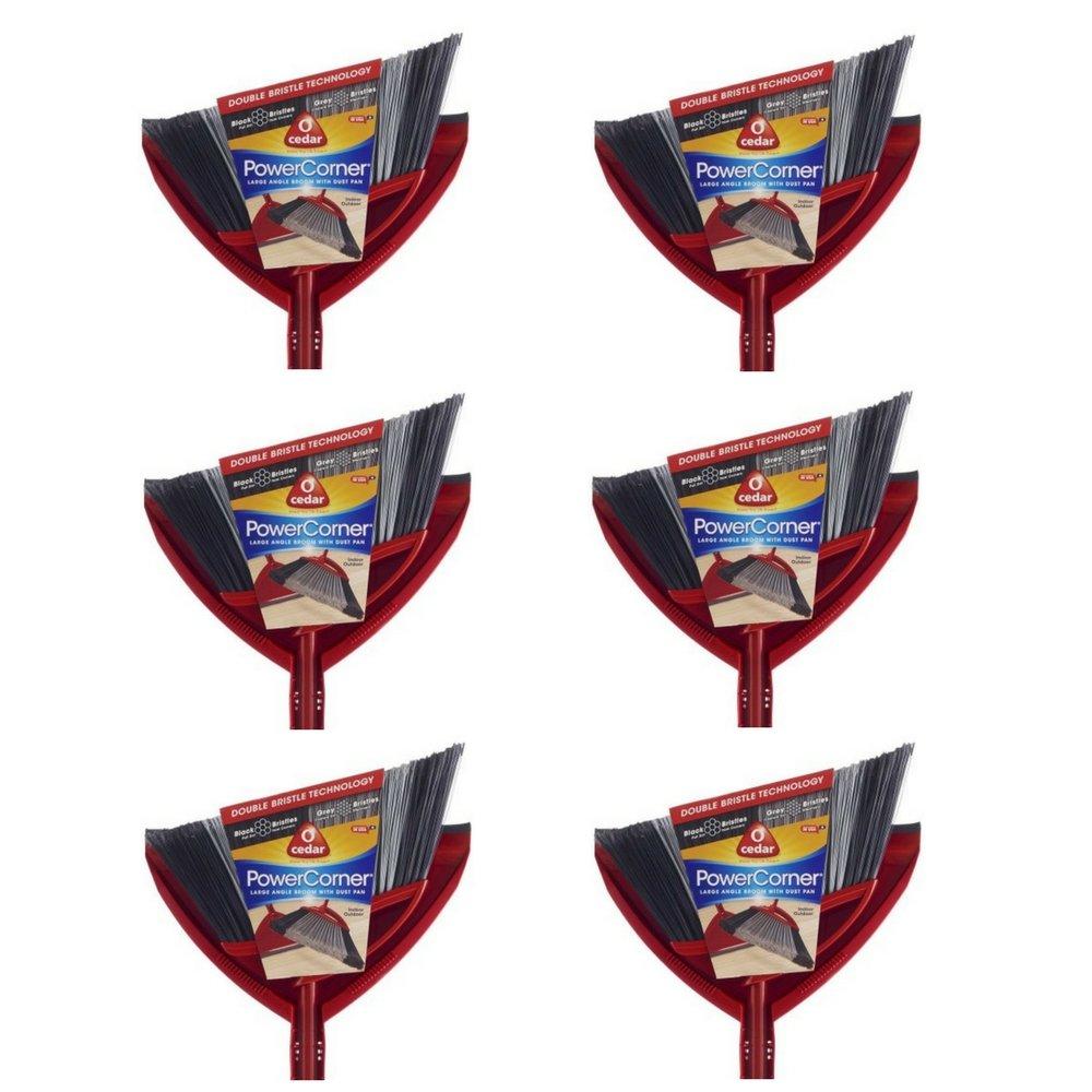 O-Cedar Power Corner Angle Broom with Dust Pan (6 pack)