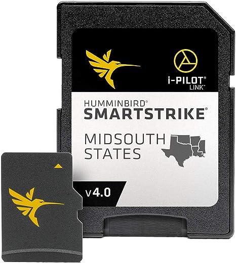 Humminbird SmartStrike Mid-South States Edition Digital GPS Lake Maps, tarjeta Micro SD, versión 4, color negro: Amazon.es: Electrónica