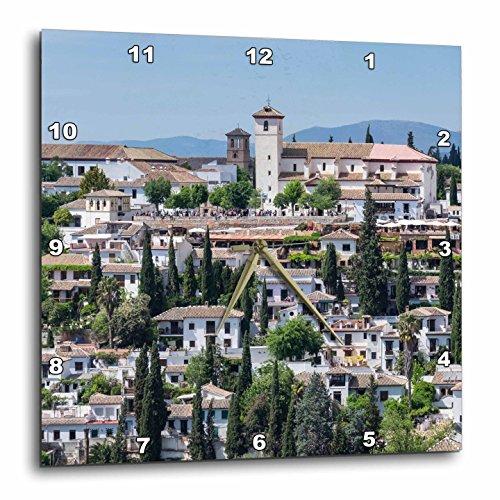 3dRose Danita Delimont - Spain - Spain, Andalusia. Granada. View across a spanish town. - 15x15 Wall Clock (dpp_277890_3) by 3dRose
