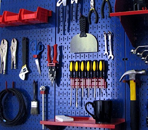 Wall Control 30-P-3232BU Blue Metal Pegboard Pack by Wall Control (Image #8)