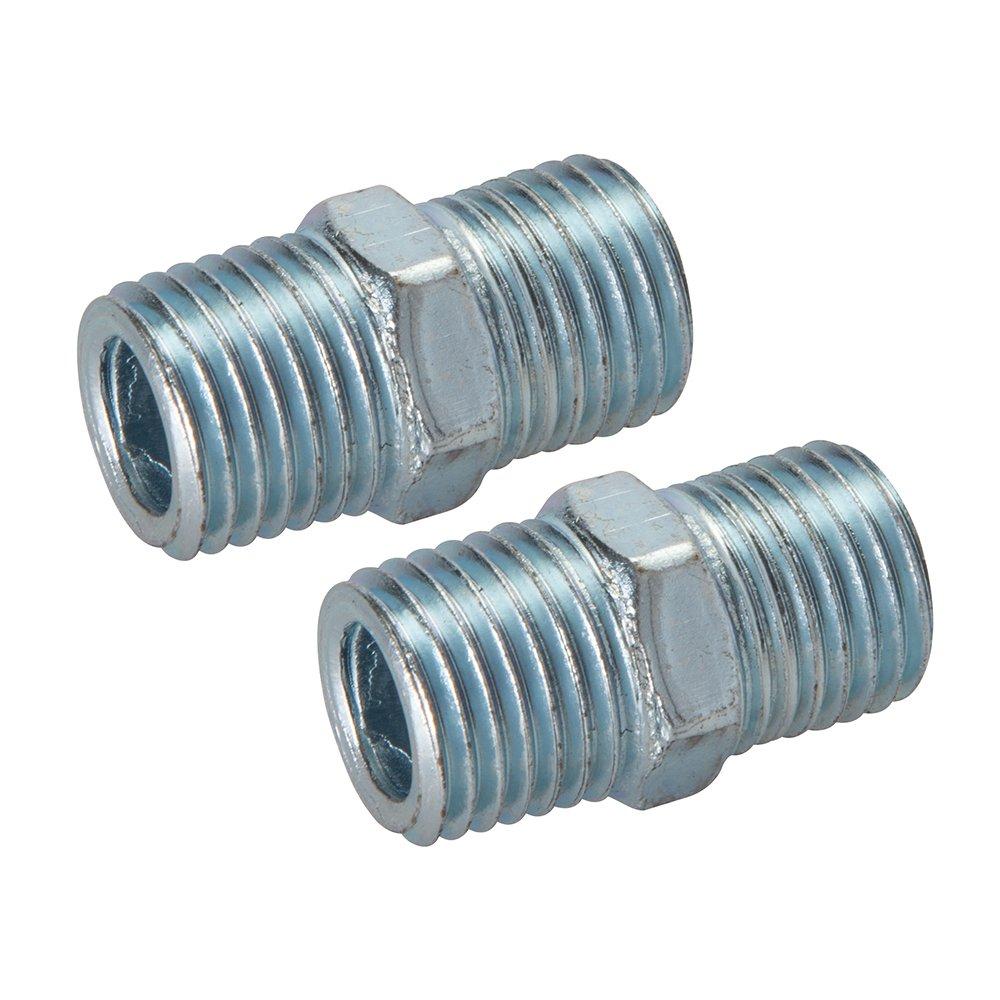 Adaptador de doble rosca para aire comprimido Silverline 868632 2 pzas BSPT 1//4