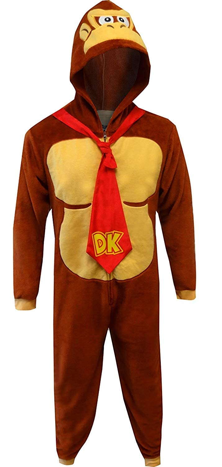 Disney Mens Standard Donkey Kong Cos Play One Piece Pajama Union Suit MF17026US