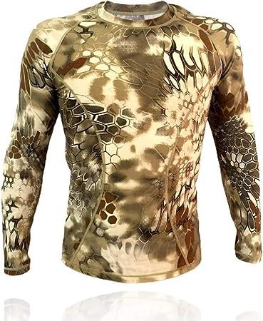 QAZW Ropa táctica Táctico Camisa Ejército Hombres Militar Camisa táctica Táctico Traje de Entrenamiento de Manga Larga de Traje de Secado rápido D-S: Amazon.es: Hogar