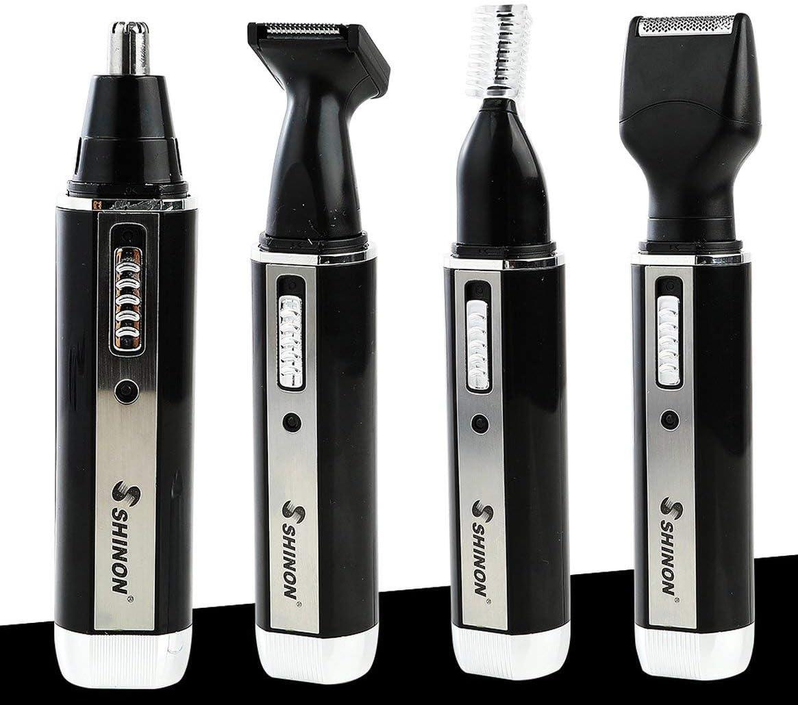 SHINON SH-2051 Multifunción 4 en 1 recortadora de nariz eléctrica ...