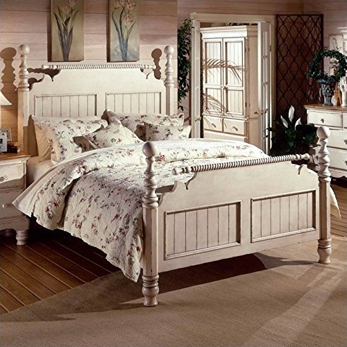 Hillsdale Furniture 1172BQR Wilshire Post Bed, Antique White - Antique Bedroom Furniture: Amazon.com