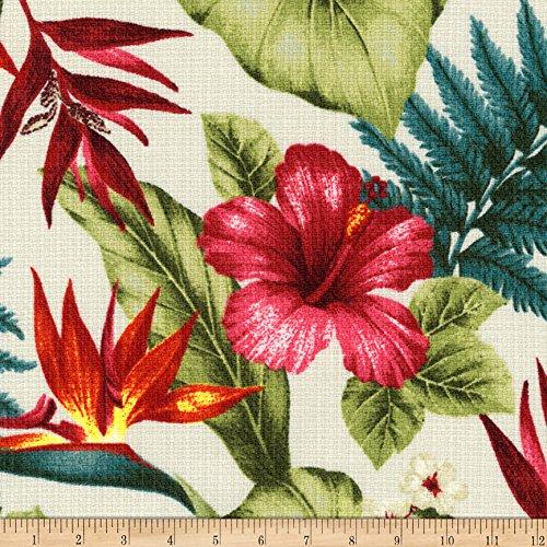 Robert Kaufman Kaufman Sevenberry Island Pardise Barkcloth Tropical Fabric By The Yard - Barkcloth Fabric