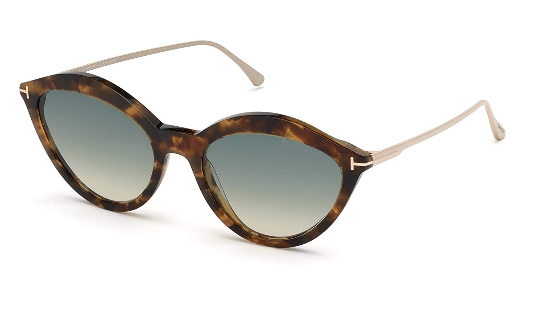 Tom Ford Gafas de Sol CHLOE FT 0663 HAVANA/GREEN SHADED ...