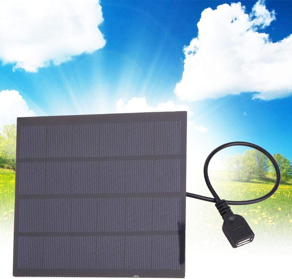 Alomejor 5V USB Solar Panels Phone Solar Charging Bank with USB Voltage Stabilizer Silicon Solar Panel Compatible Most Smart Phone and Other Devices