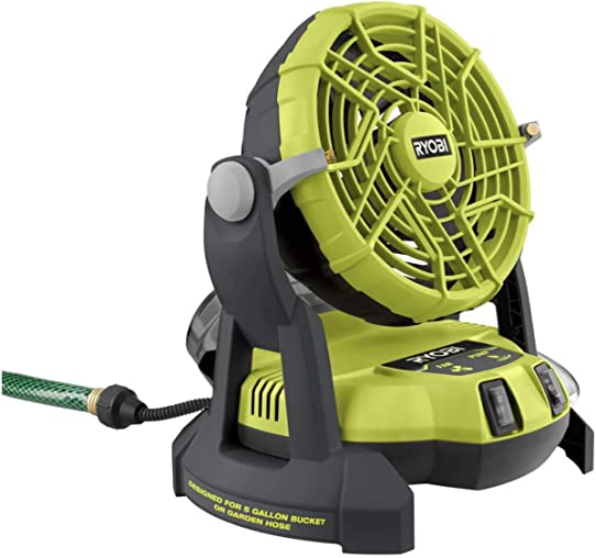 RYOBI 18-Volt ONE 2-Speed Bucket Top Misting Fan Tool Only
