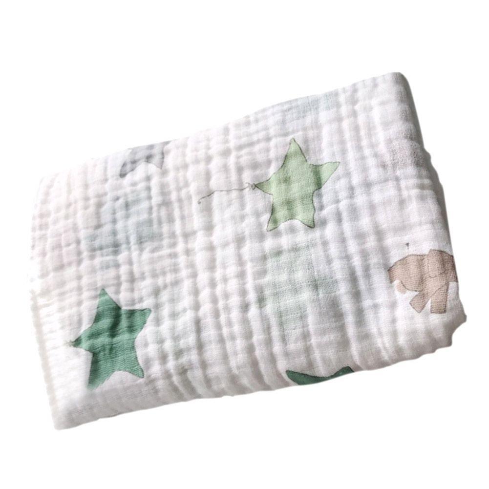 Baby Pucktücher, Baywell Double Schicht Baby Wrap Swaddle Blanket Decke, 120*120 (A1(Briefe)) Baby Pucktücher