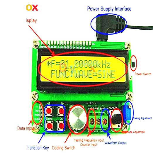 FYE050 DDS Function Signal Source Generator 1W Output 3V Random Waveform Module