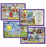 Dicksons Bible Stories Creation and Ten Commandments Colorful 11 x 17 Childrens Activity Place Mat Set of 2