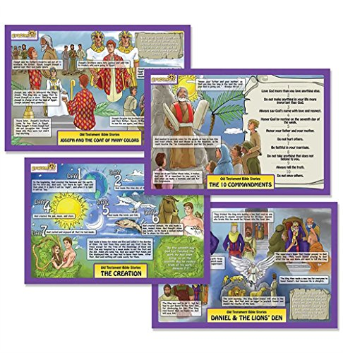 Dicksons Bible Stories Creation and Ten Commandments Colorful 11 x 17 Childrens Activity Place Mat Set of 2 by Dicksons
