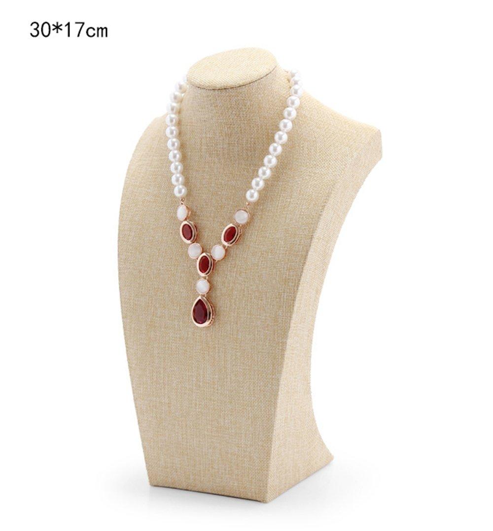 Busto espositore, supporto per collane, colore naturale 20*11cm ACTNOW